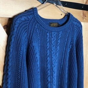 eddie bauer cable knit grandpa sweater